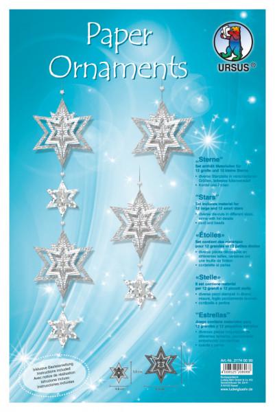 Papier Oranament Sterne,inkl.Anleit