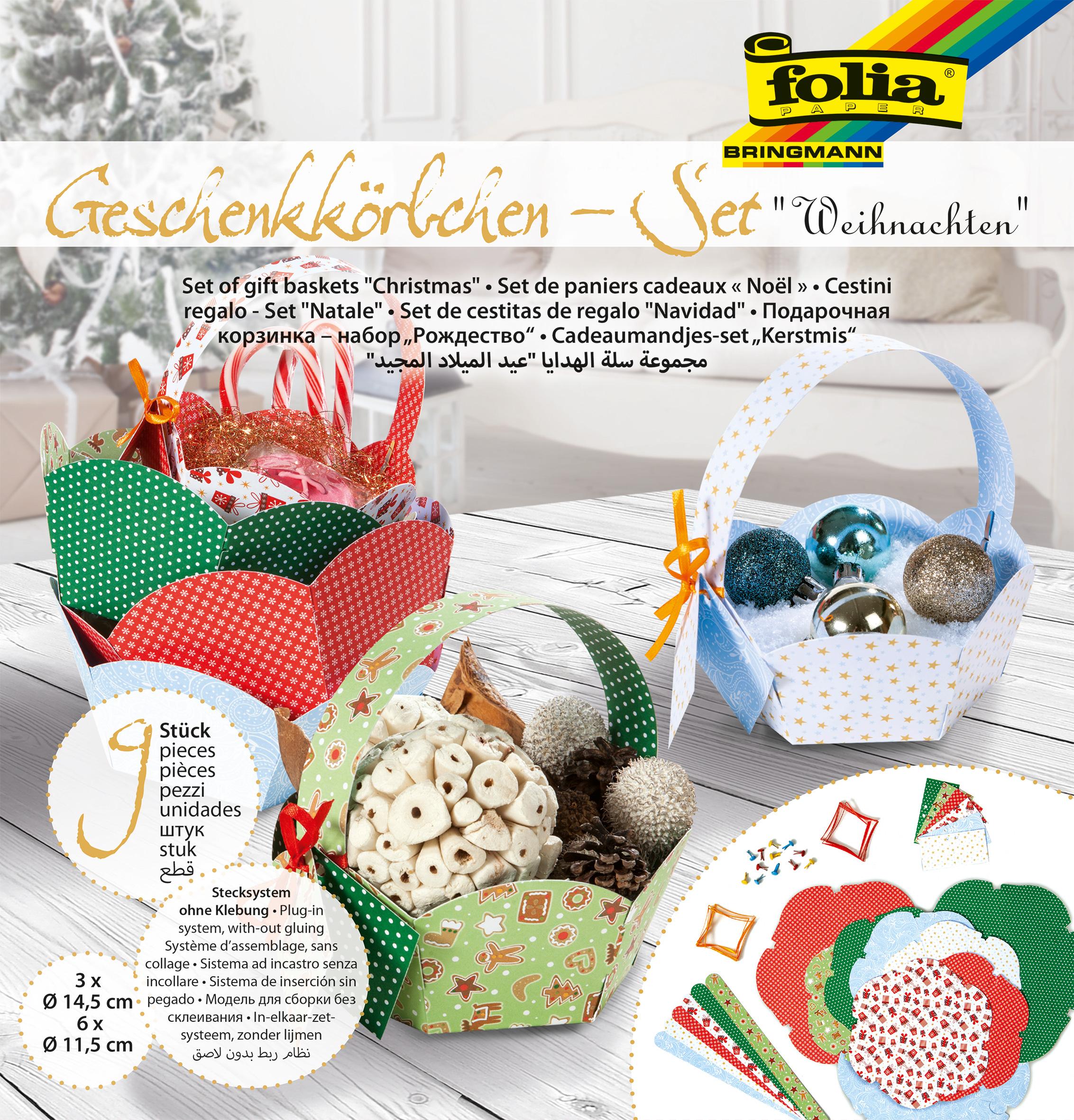 Geschenkkörbchen-Set Weihnachten 9 Körbchen m.Stecksystem & Zubehör ...