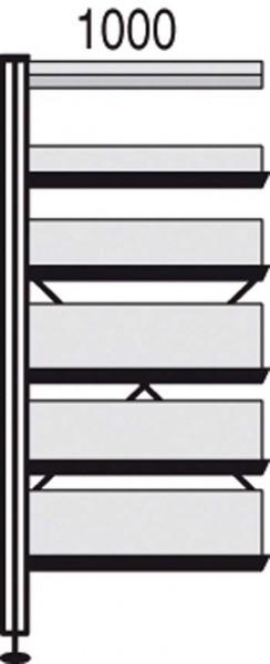 bibliotheks regal libra 5 schr g 1 fachboden bxtxh. Black Bedroom Furniture Sets. Home Design Ideas
