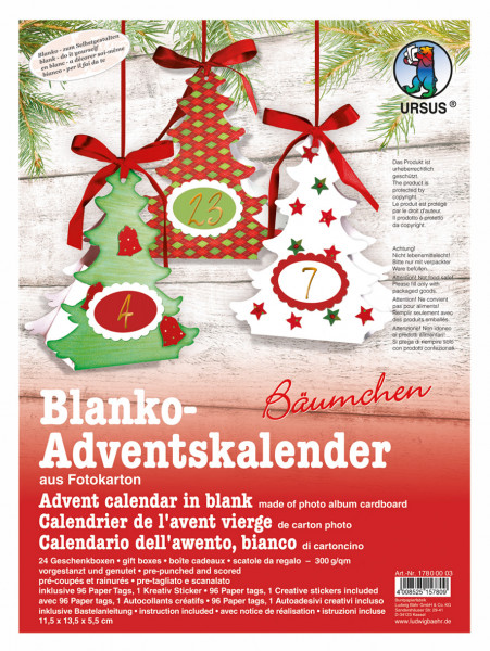 "Blanko-Adventskalender ""Baum"""