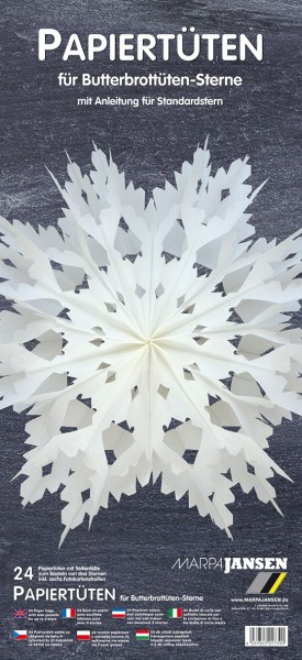 Butterbrottüten-Sterne Bastelset