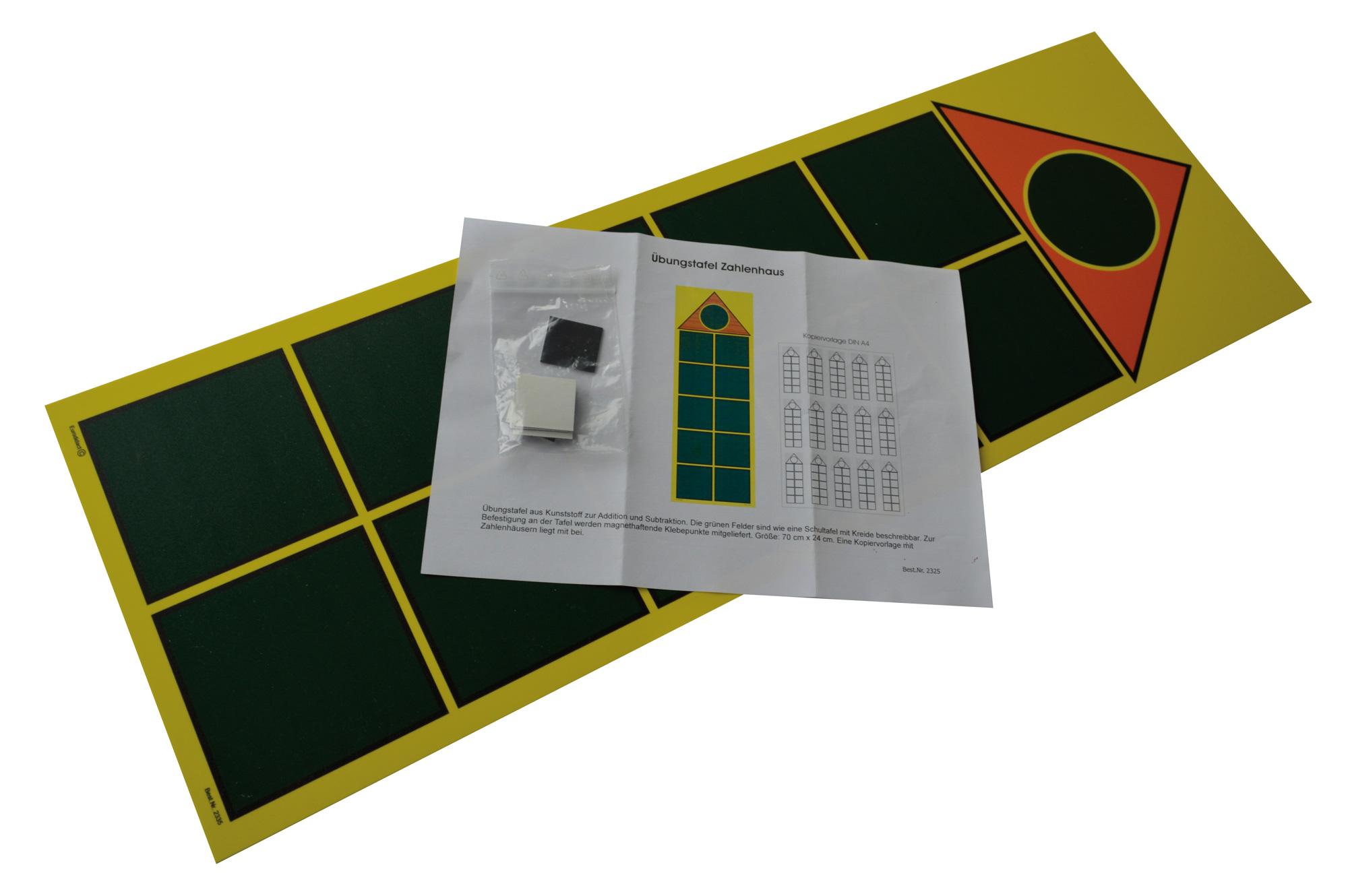 Tafel 70 Cm : Übungstafel zahlenhaus größe cm inkl kopiervorl lms