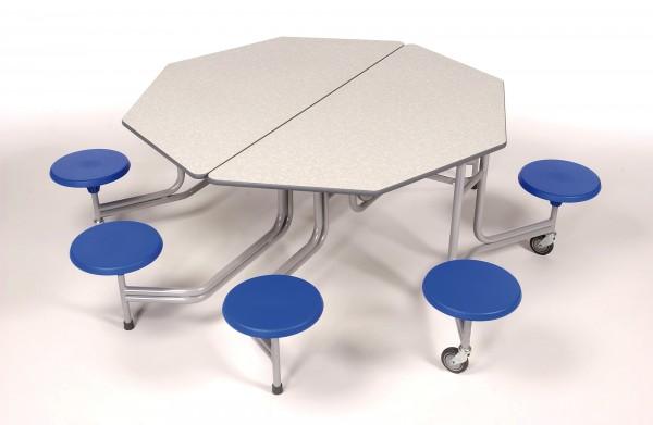 Tisch 8 Eckig.Tisch Sitzkombination 8 Plätze Sitz Tischhöhe 37 62cm 8 Eckig
