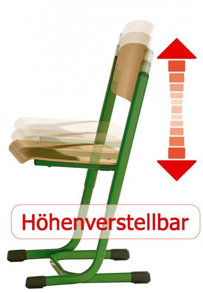 Schülerstuhl L Form Sitzhöhe Verstellbar Nach Din Norm Offener