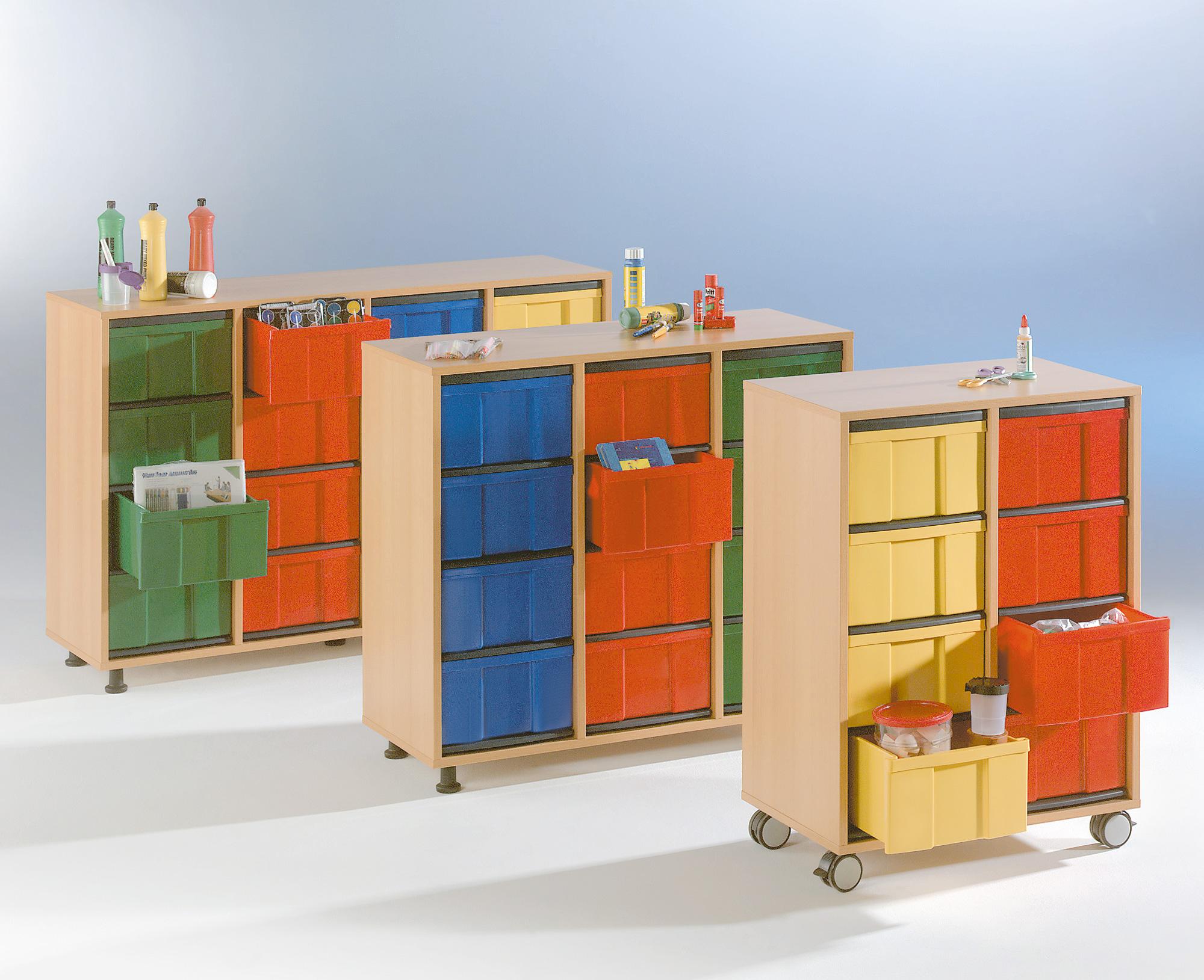 InBox-Schrank, 12 Boxen L, Sockel, BHT 97,9x93,5x40cm   LMS ...