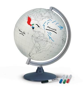 Stummer Globus zum Beschreiben und